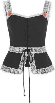 Dolce & Gabbana Sleeveless Drill Poplin Top