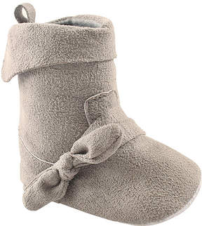 Luvable Friends Gray Fold-Over Boot - Infant