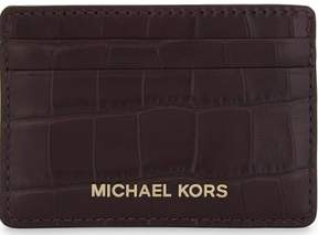 Michael Kors Money Pieces Crocodile-effect Leather - Card Holder - Damson - 32F7GF6D0E-599 - ONE COLOR - STYLE