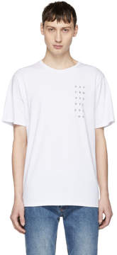 Saturdays NYC White Stacked Logo T-Shirt