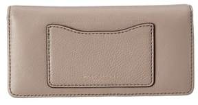 Marc Jacobs Recruit Leather Open Face Wallet. - GRAY - STYLE