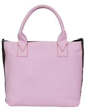 Pinko Women's Pink Cotton Tote.