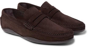 Harry's of London Basel 4 Perforated Suede Penny Loafers