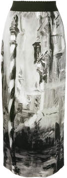 Alberta Ferretti printed midi skirt