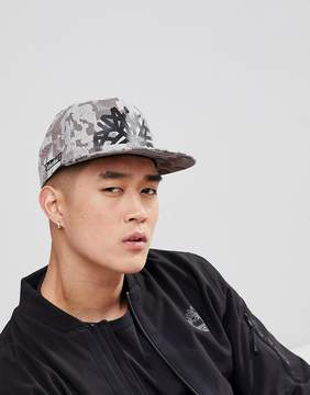 Timberland Large Logo Camo Baseball Cap in Light Gray