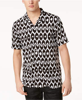 INC International Concepts Mr. Turk x I.n.c. Men's Geometric Camp Collar Shirt, Created for Macy's