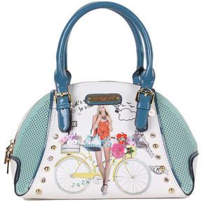 Nicole Lee Women's Spring Ride Print Mini Bowler Bag