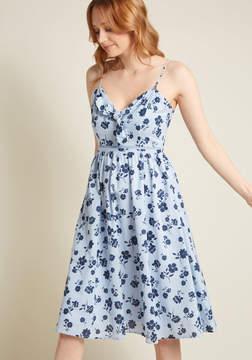 Moon River Terrace Invitation Floral Midi Dress