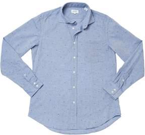 Hartford Men's Patterned Paul Woven Shirt - Blue