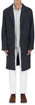 Massimo Alba Men's Herringbone Wool-Blend Tweed Topcoat