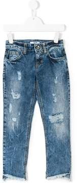 MSGM distressed straight leg jeans