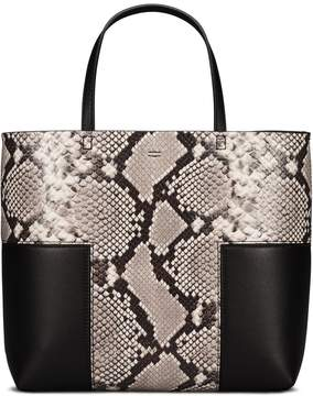 Tory Burch BLOCK-T EMBOSSED MINI TOTE - NATURAL/BLACK - STYLE