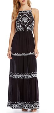 Chelsea & Violet Embroidered Maxi Dress