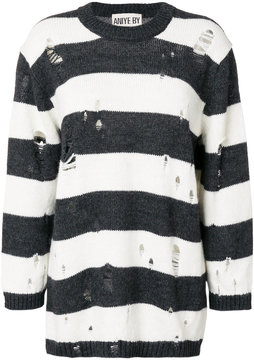 Aniye By distressed stripe jumper