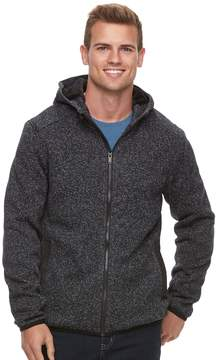 Apt. 9 Men's Marled Sherpa-Lined Sweater Fleece Hooded Jacket