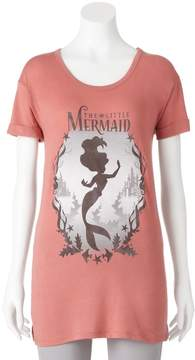 Disney Disney's The Little Mermaid Ariel Juniors' Silhouette Graphic Tee