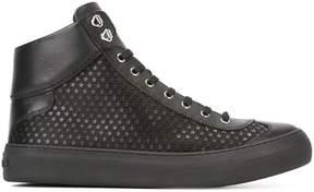 Jimmy Choo star pattern hi-top sneakers