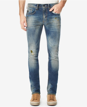 Buffalo David Bitton Men's Ripped Skinny Fit Stretch Jeans