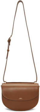 A.P.C. Brown Genève Flap Bag