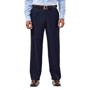 Haggar Men's eCLo Stria Classic-Fit Flat-Front Dress Pants
