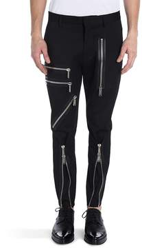 Viktor & Rolf Men's Virgin Wool Blend Zipper Pants