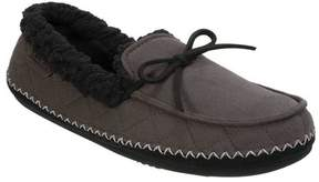 Dearfoams Men's MFS Loafer Slipper with Tie and Whipstitch