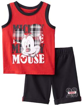 Disney Disney's Mickey Mouse Baby Boy Graphic Tank & French Terry Shorts Set