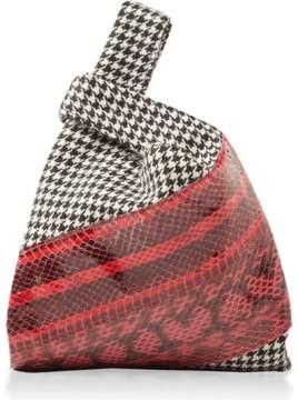Hayward Houndstooth Watersnake Mini Shopper Bag