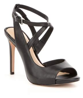 Gianni Bini Aminaa Leather Criss Cross Ankle Strap Dress Sandals