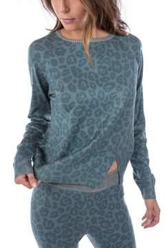 Ragdoll LA LEOPARD KNIT SWEATSHIRT Green Leopard