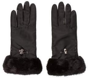 Prada Mink Leather Gloves