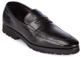 a. testoni Slip-On Leather Penny Loafers
