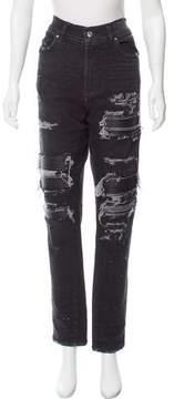 Amiri High-Rise Distressed Jeans
