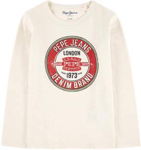 Pepe Jeans Graphic slub jersey T-shirt