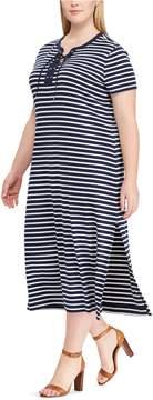 Chaps Plus Size Stripe Dress