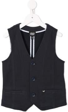 Emporio Armani Kids textured waistcoat