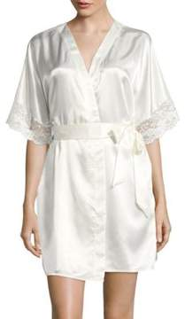 Flora Nikrooz Flora By Lace-Trimmed Robe