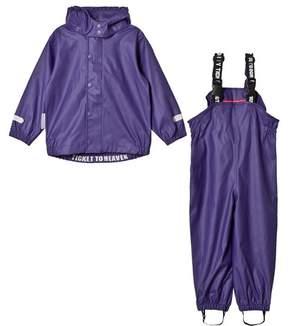 Ticket to Heaven Parachute Purple Rain Set Authentic Rubber With Detachable Hood