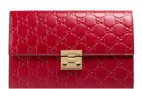 Gucci Padlock pouch - HIBISCUS RED GUCCI SIGNATURE - STYLE