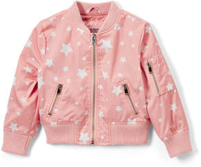 Urban Republic Rose Smoke Star Sateen Bomber Jacket - Toddler & Girls