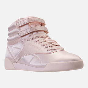 Reebok Girls' Grade School Freestyle Hi Lux TXT Casual Shoes