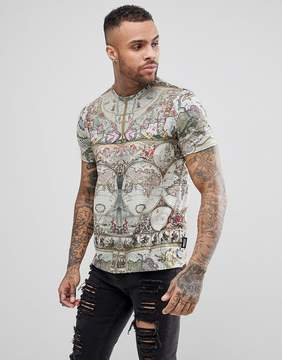 Jaded London T-Shirt In Map Print