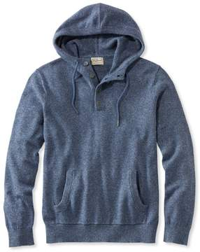 L.L. Bean L.L.Bean Summerweight Sweater, Henley Hoodie Slightly Fitted