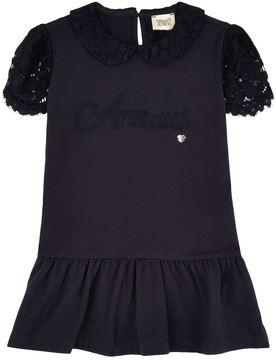Armani Junior Lace Cap Sleeve Dress