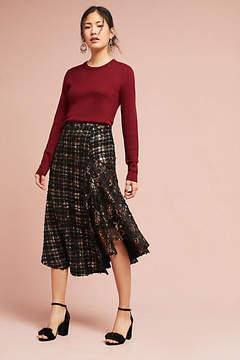 Eva Franco Metallic Tweed Skirt