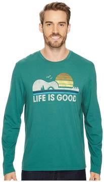 Life is Good Camp Guitar Long Sleeve Smooth Tee Men's Long Sleeve Pullover