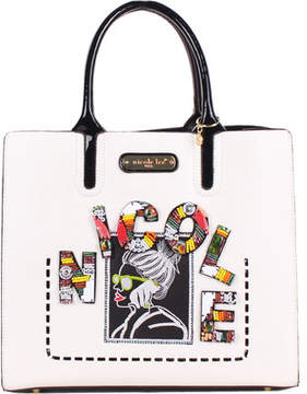 Nicole Lee Jezebel Beaded Patch Tote Bag with Pouch (Women's)