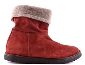 Buttero Women's Red Suede Ankle Boots.