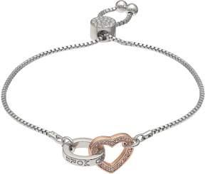 Brilliance+ Brilliance Love You More Adjustable Bracelet with Swarovski Crystals