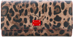 Dolce & Gabbana leopard print rectangular purse - BROWN - STYLE